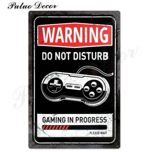 Premium Video Gamer Metal Signs for Wall Decoration 20x30cm Xbox Playstation