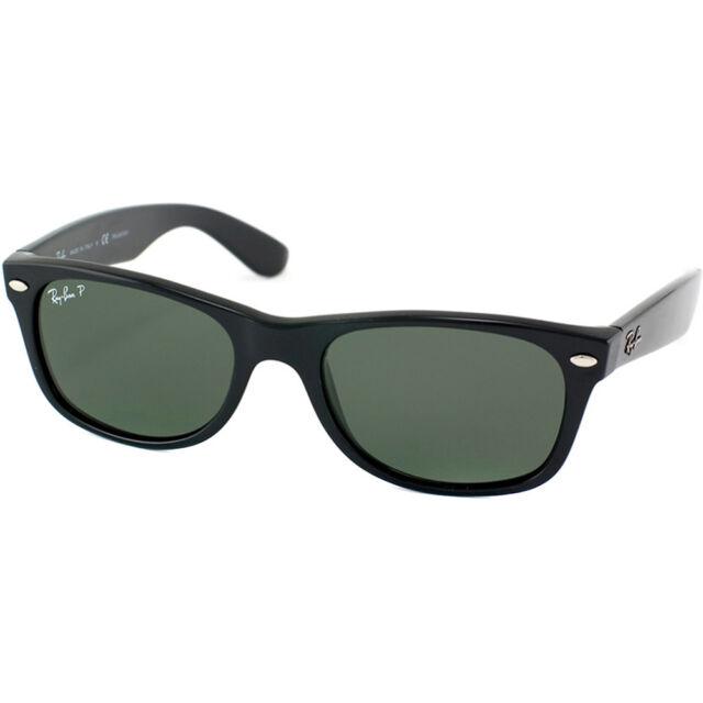 Ray Ban New Wayfarer RB 2132 901 58 Black Sunglasses Green Polarized 55mm ba4624d04766