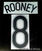 Manchester United Rooney 8 06/07 Uefa Champions League Football Shirt Name Set A