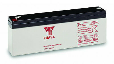 NP2.3-12 Genuine Yuasa 12V 2.3Ah SLA Battery for Optima Compact Alarm Panels