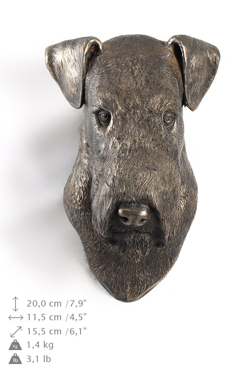 Airedale Terrier - dog figurine to hang on the wall, high quality, Art Dog
