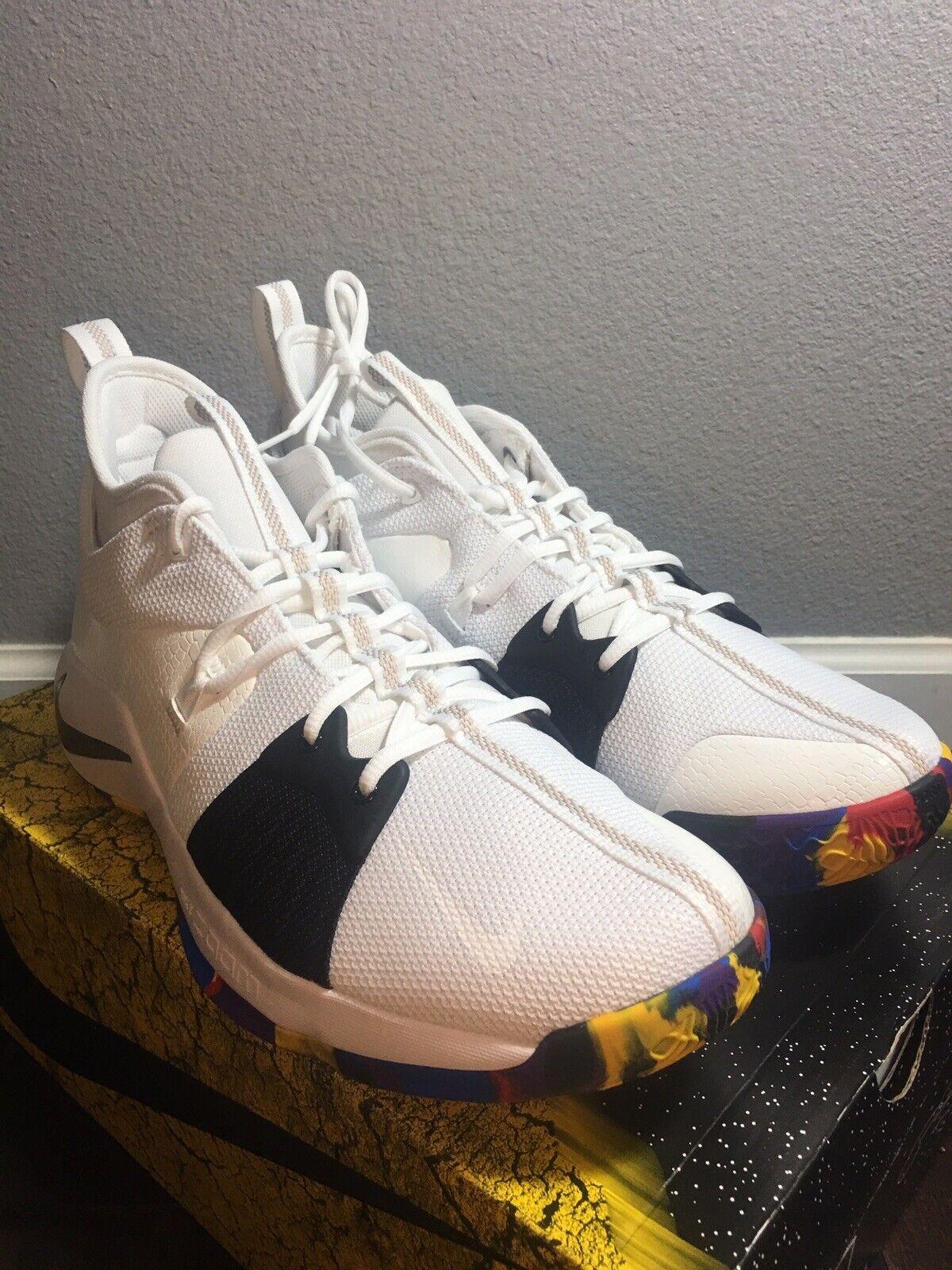 the latest d824b bf3f9 Nike Men's PG PG PG 2 TS White Multi color Size 13 AJ5163 ...