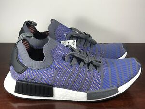 the best attitude 20938 12a77 Details about Men's Adidas NMD R1 STLT PK Hi-Res Blue Primeknit Running  Shoes CQ2388 Size 12