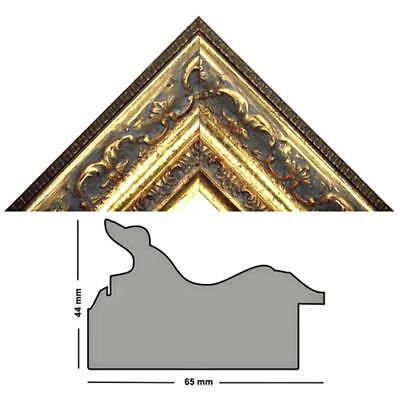 HxB 22x47 mm Länge 1m Barockleiste gold Bilderleiste gold verziert 844 ORO