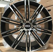 22 Wheels Gloss Black Mach Rims Fit Porsche Cayenne GTS Style Turbo S Touareg