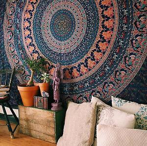 Tapestry Bohemian Twin Throw Mandala Indian Decor Ethnic Bedspread Art Beach NEW