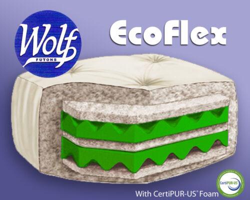 Twin Full or Queen Size Wolf EcoFlex Futon Mattress