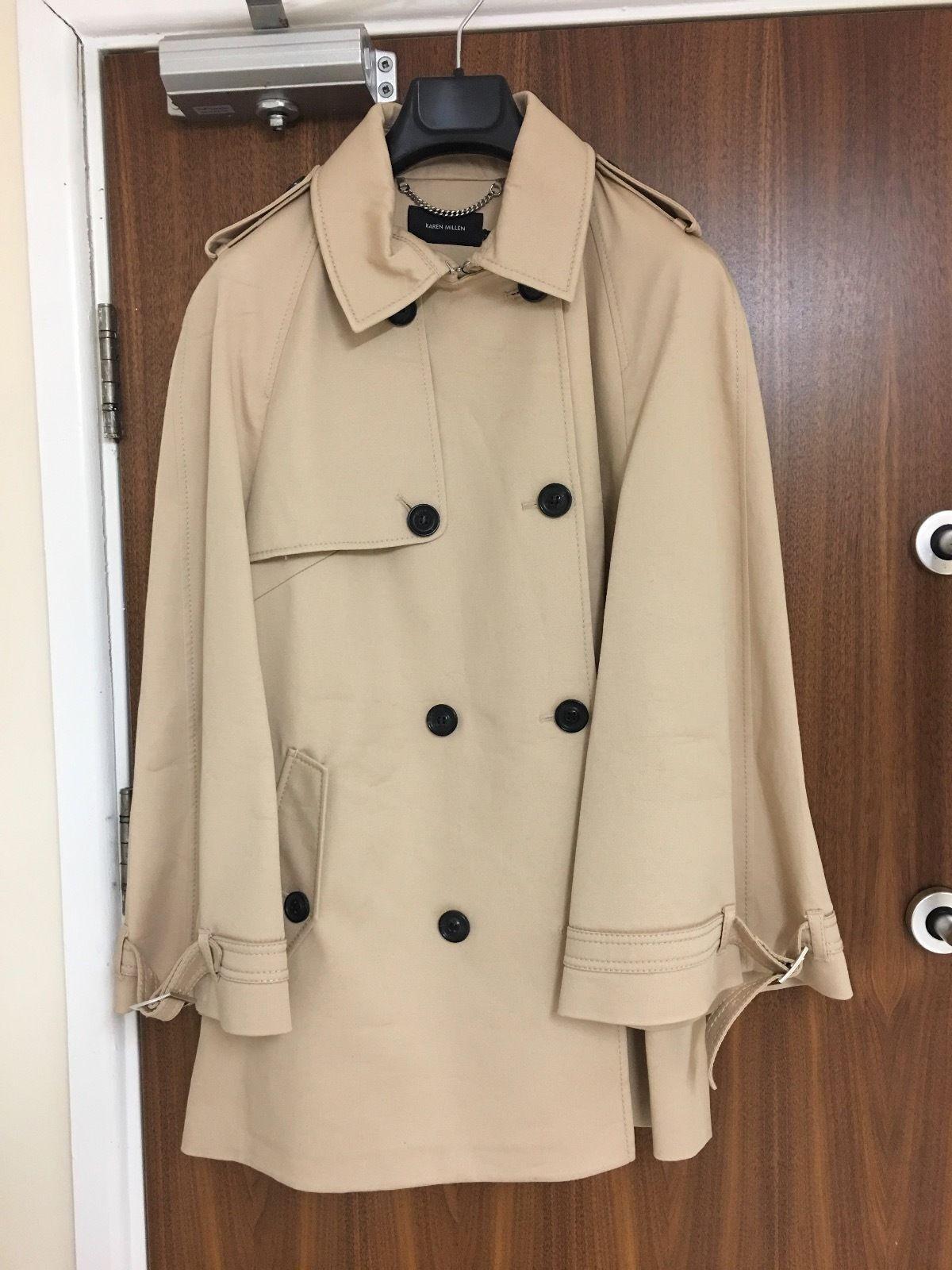 Karen Millen Modern Cotton Trench Coat Size    Sold Out    86b747