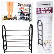 5 TIER Shoe Rack Organiser 15 Pairs Easy Assemble Shelves Shelf Storage Shoes