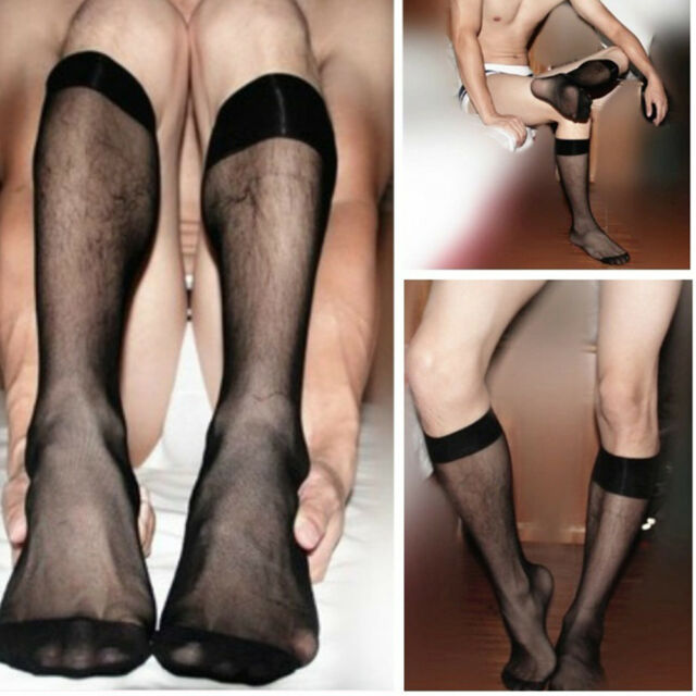 Nylon Sock Fashion Men Stockings Silk Transparent Ultra-Thin Sexy Style