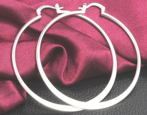 Argent Sterling 925 Plaqué femmes Fashion Jewelry belle boucles d/'oreilles Créoles Cadeau H1