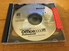 Office 2000 Professional Word Access Excel Power point Out look and Publisher