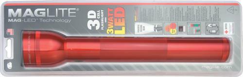 Maglite ST3D036 LED 3x D Battery Click Switch Red Flashlight Light