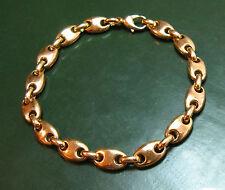 Sehr massives 585er GOLD-ARMBAND Bohnen-Glieder • 29,8 g • 19 cm • Goldarmband