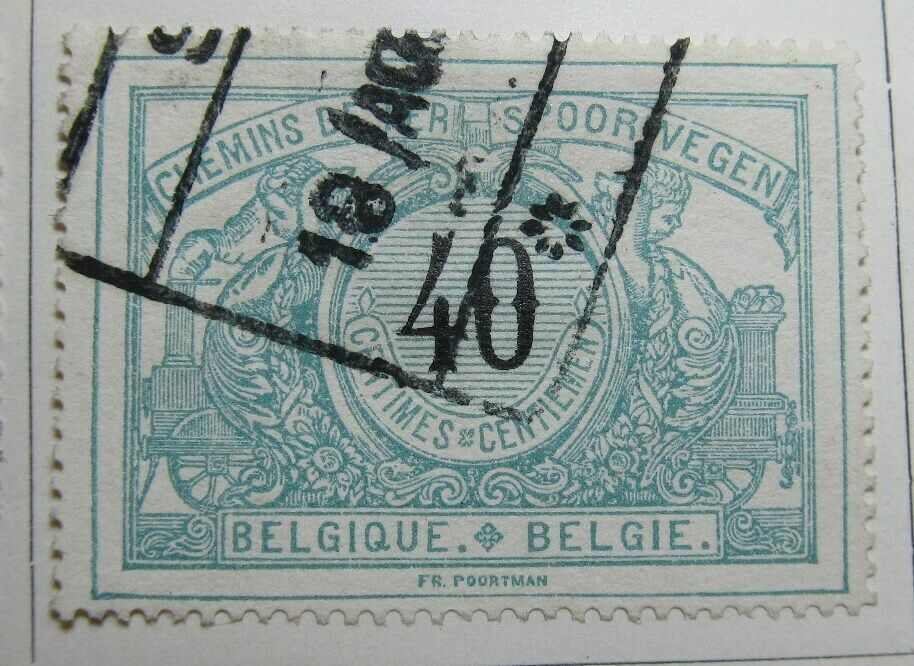 A6P16F23 Belgium Parcel Post and Railway Stamp 1904 40c used