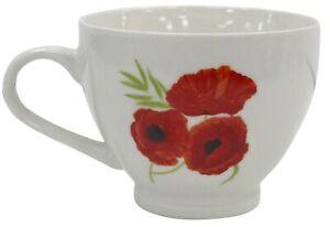 Set-of-4-Large-Oversized-Bone-China-Mugs-Coffee-Soup-Mugs-Floral-Poppy