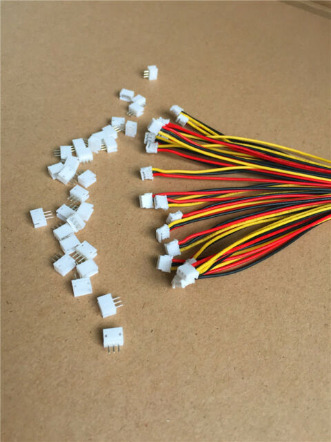 20 SETS Mini Micro ZH 1.5 3-Pin JST Connector with Wires Cables