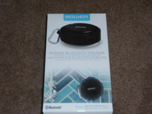 Bower Rugged Bluetooth Shower Speaker Suction Cup Carabiner Ipx8
