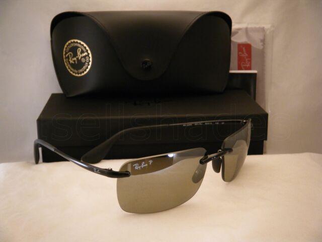 29d4d9230cd Ray Ban 4255 Shiny Black w Grey Silver Polar Lens (RB4255 601 5J)