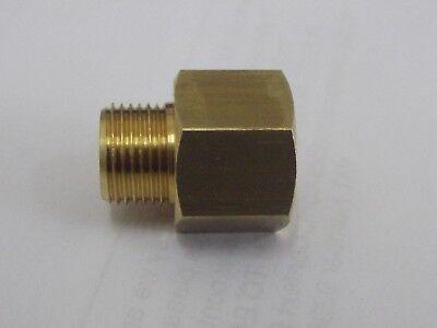 Metrischer Stecker Niete M12 X 1mm Hebung X 1/4 Npt Weiblich Messing Einen Effekt In Richtung Klare Sicht Erzeugen