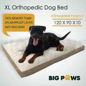 Memory-Foam-Dog-Pet-Bed-Mat-Orthopedic-Extra-Large-Waterproof-Big-Paws