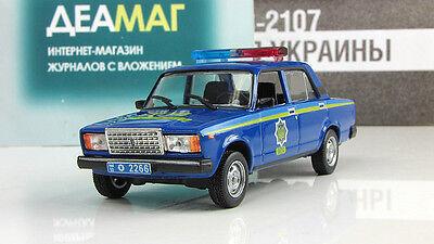 VAZ-2107 Police of Ukraine Diecast model 1/43 DeAgostini
