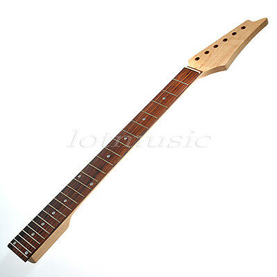 Electric Guitar Neck Parts Square Heel Fretboard 24 Fret Maple Wood Replacement