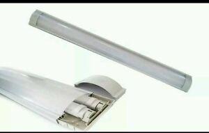 Plafoniere Neon 120 Cm : Plafoniera doppia per 2 neon led interno attacco t8 120 cm ottima