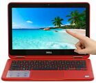 New Dell 11.6 2-in-1 Touchscreen Intel Celeron 1.6GHz 2GB 32GB Windows 10 Red