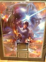 STAR WARS Framed Art Print with Dave Prowse (Darth Vader) Signature