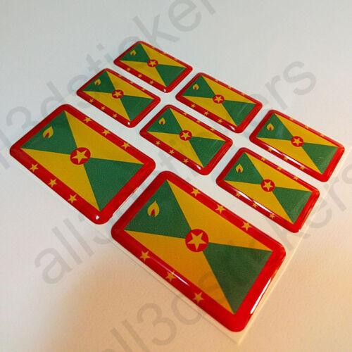 Sticker Grenada Resin Domed Stickers Grenada Flag 3D Vinyl Adhesive Decal Car