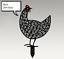 Indexbild 4 - Chicken Yard Art Garden Metal Statue Decor 2021