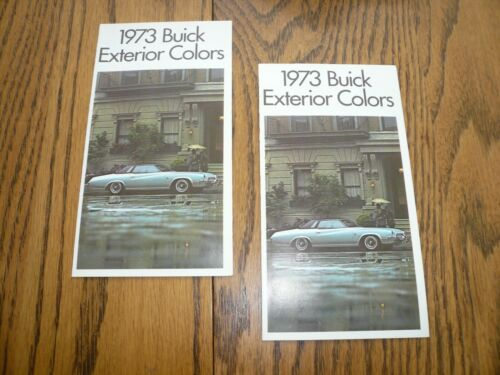 1973 Buick Factory Color Chip Paint Samples Booklets Two Vintage ...