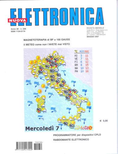 230 anno 39  2007 rivista NUOVA ELETTRONICA nuovaelettronica n