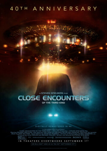 Close Encounters of the Third Kind Classic Movie Poster Large Wall Art Print