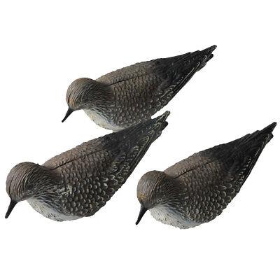 3pcs Golden Plover Shorebird Decoys Fake Bird Scare Protect Garden Hunting