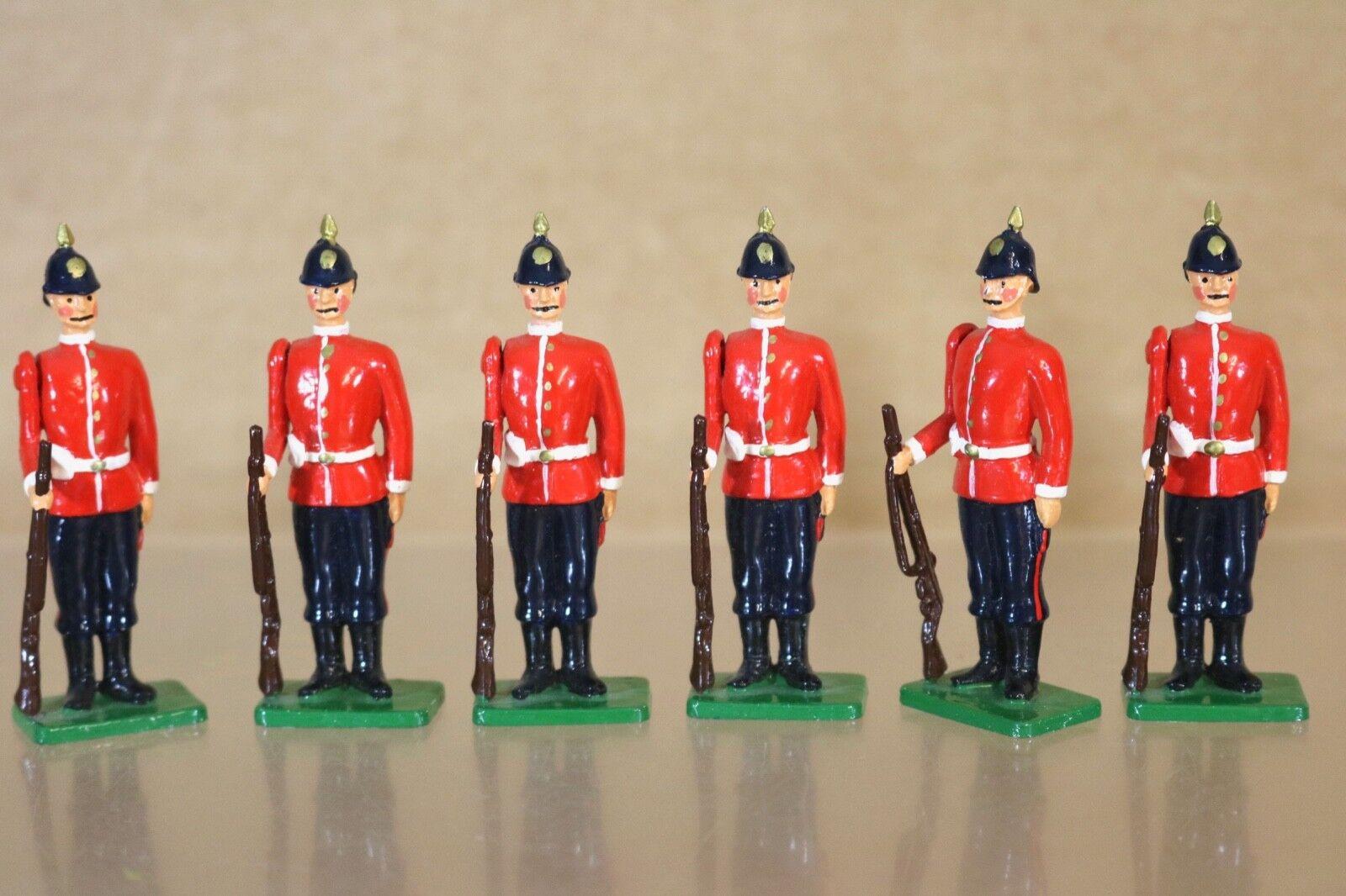 Britains Re Fundido Victoriano Británico Infantería Pies Soldados en Atención 1