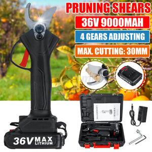 36V-Cordless-Rechargeable-Electric-Pruning-Shears-Secateur-Branch-Cutter-Scissor
