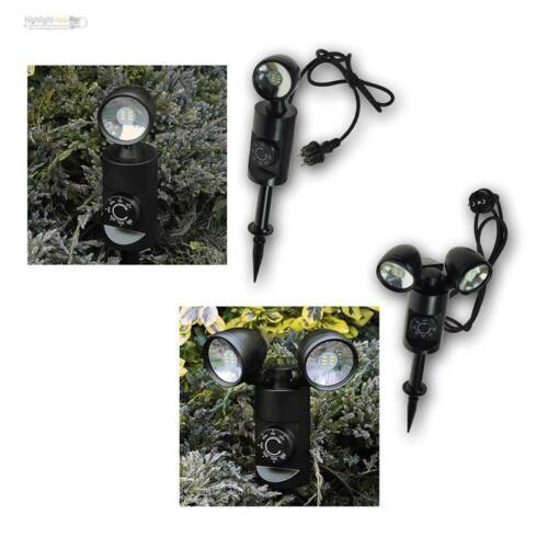 LED Erdspieß Straher 3W/6W mit Dämmerungsschalter Sensor + Timer, Gartenleuchte