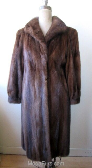 Women's Sz 8 Mahogany Mink Fur Coat MINT