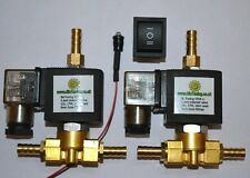2 x Vegetable oil fuel tank selector solenoid valves & switch vegoil WVO UCO SVO