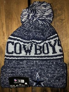 8fa977eac6a ... sideline beanie stocking cap e8b74 98b13  real image is loading dallas  cowboys new era knit hat on field b178b ea0c4
