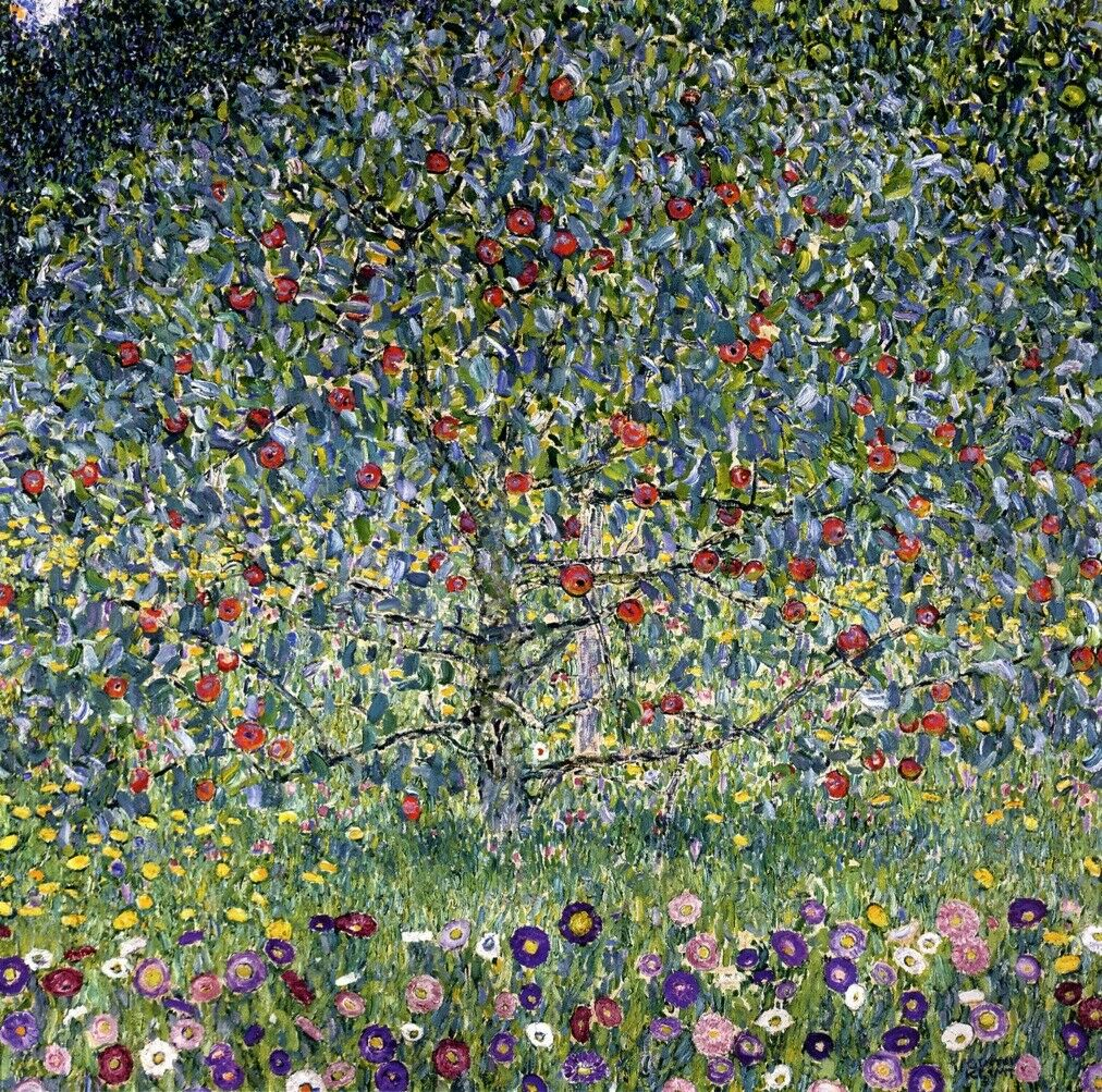 Tempo 4 immagine Gustav Klimt Albero di mele i albero tela immagini Nouveau 80cmx80cm ART