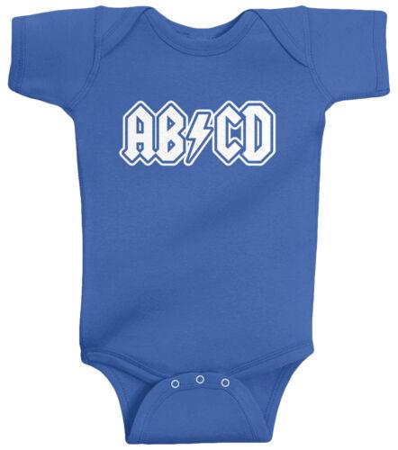 Threadrock Baby ABCD Infant Bodysuit Funny Rock N Roll Parody Music Rock Star