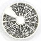 3D Nail Art Tips Gem 1800pcs 2mm Crystal Glitter Rhinestone DIY Decoration New
