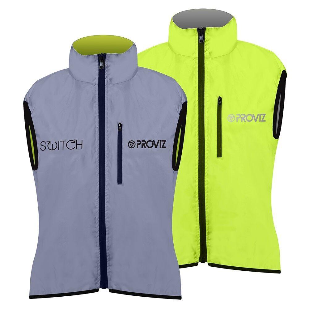 Proviz - Switch Woman's Reversible Cycling Gilet Vest - Gelb   Reflective