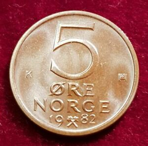 14352 (3) 5 CENTESIMI (Norvegia) 1982/k in UNC... di Berlino .007