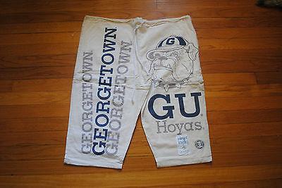 90's Geogretown Uni. Shorts, Taglia Unica, Deadstock Condizioni, Made In Usa