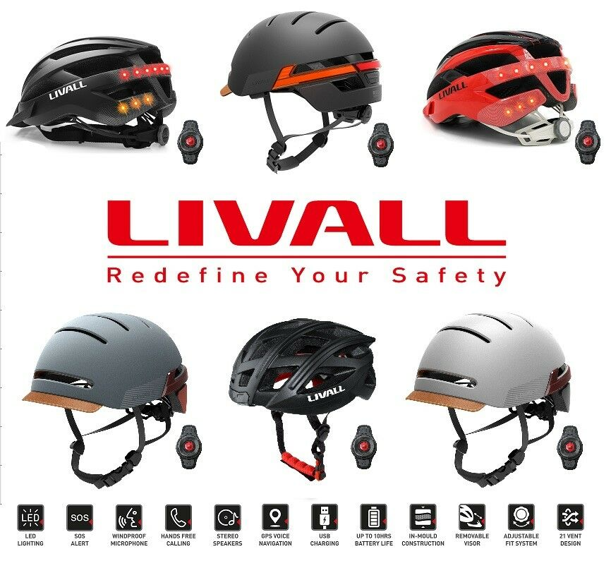 LIVALL Cycling Range - BH60SE BH51M BH51T MT1 Smart blueetooth Cycle Helmet Gift