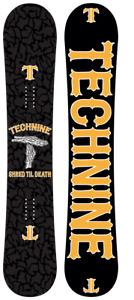 BRAND NIEUWE Technien GESCHREKTE TIL DOD OG zwart Snowboard 160Wcm F19 TECH9 BEPERKT